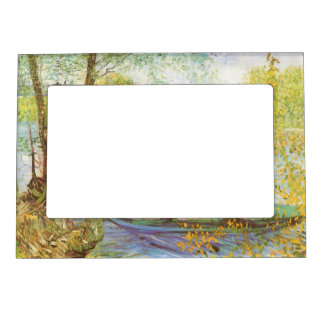 Fishing in Spring by Vincent van Gogh Picture Frame Magnet