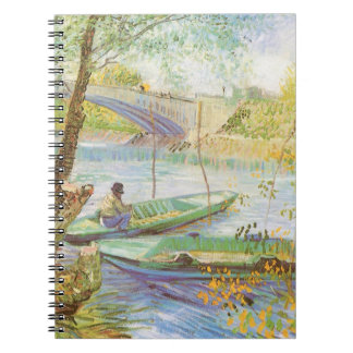 Fishing in Spring by Vincent van Gogh Notebook