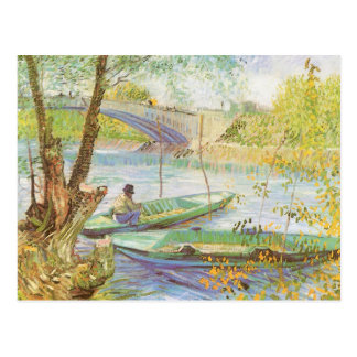 Fishing in Spring by Vincent van Gogh Postcard