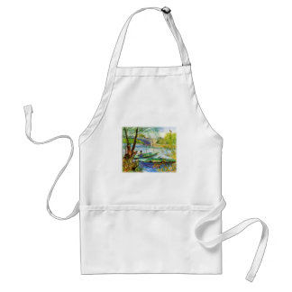 Fishing in Spring Vincent van Gogh Adult Apron