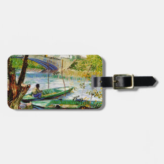 Fishing in Spring, Vincent van Gogh. Beautiful fis Luggage Tag