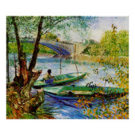 Fishing in Spring Vincent van Gogh Poster