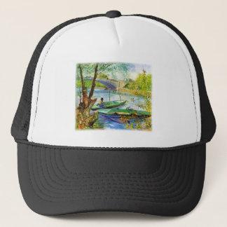 Fishing in Spring Vincent van Gogh Trucker Hat