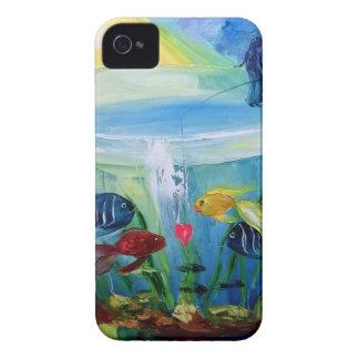 Fishing in the aquarium iPhone 4 cover