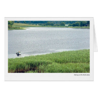 Fishing in the Bullrushes Card