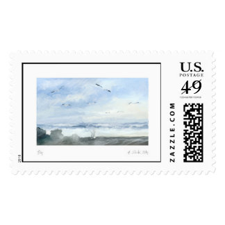 * fishing in the coast * postage