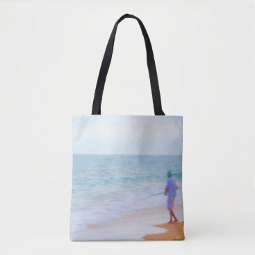 Beach Themed Fishing in the Ocean Tote