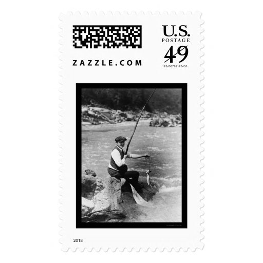Fishing in the Potomac River 1919 Postage Stamps