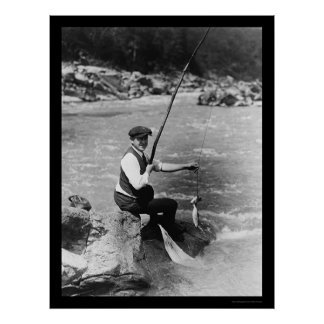 Fishing in the Potomac River 1919 Poster