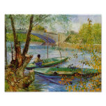 Fishing in the Spring, Van Gogh Fine Art Poster
