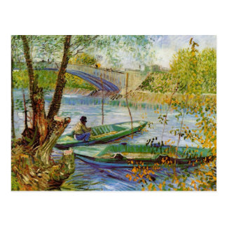 Fishing in the Spring, Vincent van Gogh (F354) Postcard