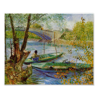 Fishing in the Spring, Vincent van Gogh (F354) Print