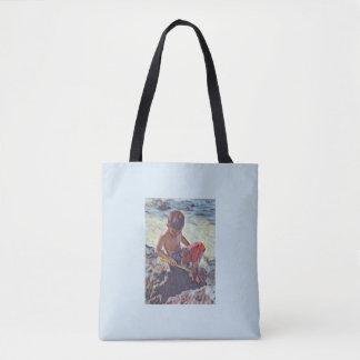 Fishing in the Tide Pools Tote Bag