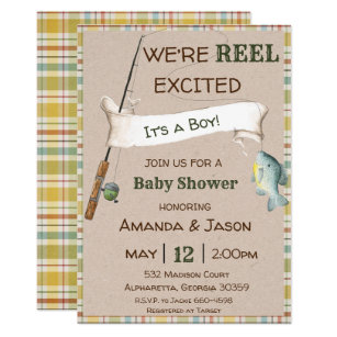 Fishing Baby Shower Invitations Zazzle