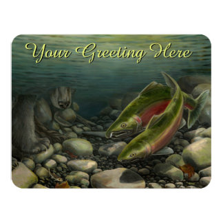 Fishing Invitations Personalized Wildlife Art RSVP