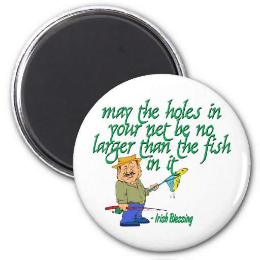 Fishing irish blessing magnets zazzle for Fishing magnets for sale