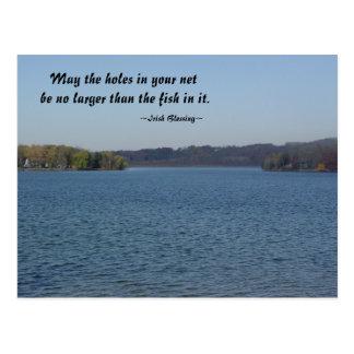 Fishing Irish Blessing Postcard