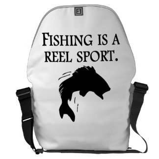 Fishing Is A Reel Sport Messenger Bags