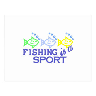 Fishing Is A Sport Postcard