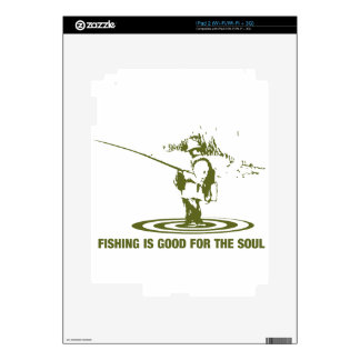 Fishing Is Good For The Soul iPad 2 Decal