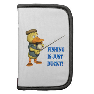 Fishing Is Just Ducky Folio Planners