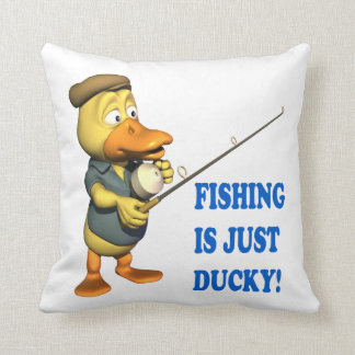 Fishing Is Just Ducky Pillows