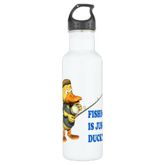 Fishing Is Just Ducky Stainless Steel Water Bottle