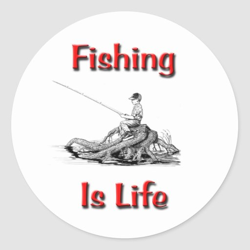 Fishing Is Life Sticker