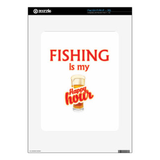 Fishing Is My Happy Hour Decal For iPad