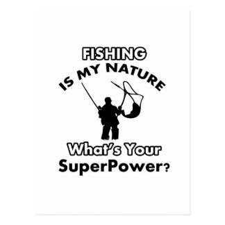 fishing is my nature postcard