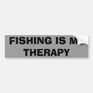 Fishing Is My Therapy Bumper Sticker