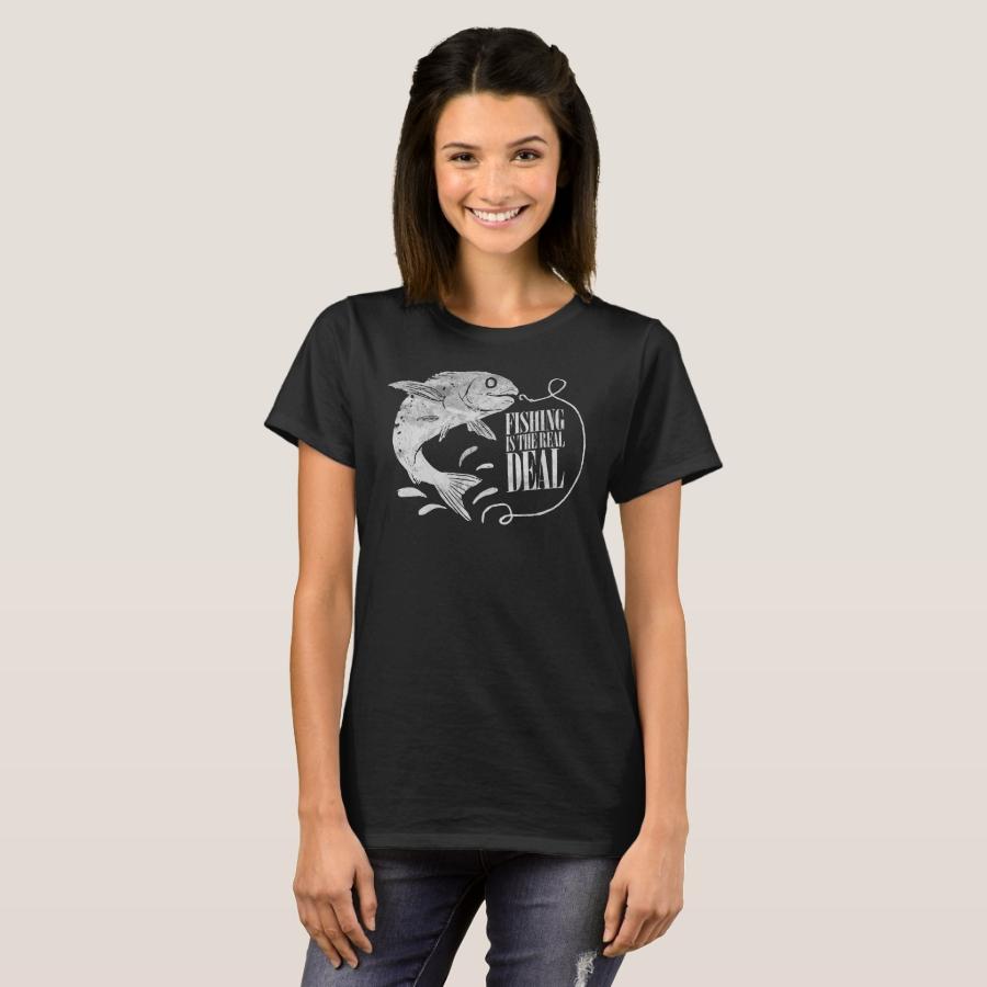 Fishing Is The Reel Deal Fisherman Fishing Lover T-Shirt - Best Selling Long-Sleeve Street Fashion Shirt Designs