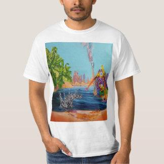 Fishing It Again Oil on Canvas Men's T-Shirt