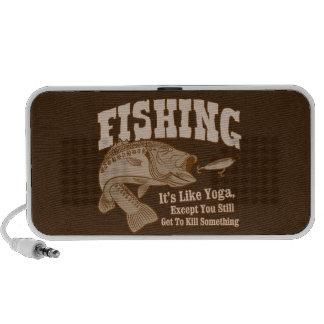 Fishing: It's like Yoga, except you kill something Speaker System