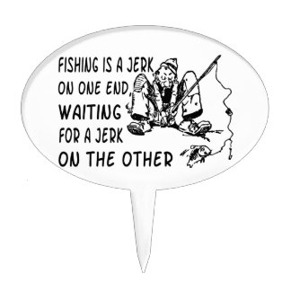 Fishing Jerk Cake Topper
