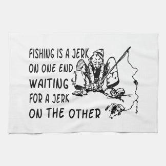 Fishing Jerk Hand Towel