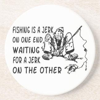 Fishing Jerk Sandstone Coaster