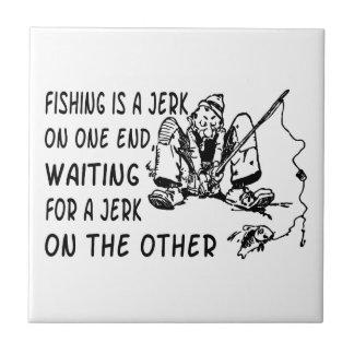 Fishing Jerk Ceramic Tiles
