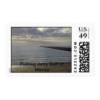Fishing Jetty Gulf of Mexico Postage Stamp