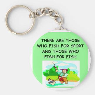 FISHing joke Basic Round Button Keychain
