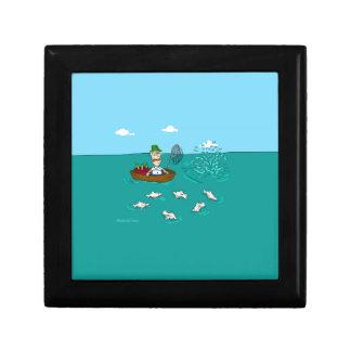 Fishing joke with dynamite jewelry box