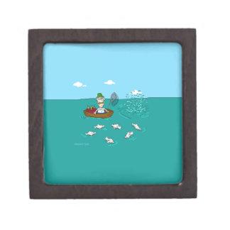 Fishing joke with dynamite premium jewelry box