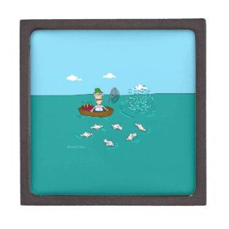 Fishing joke with dynamite premium keepsake box