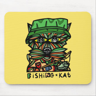 """Fishing Kat"" Mousepad"