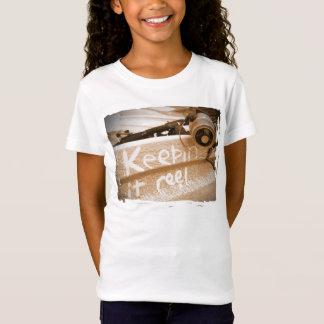 Fishing keepin it Reel beach fish rod beige T-Shirt