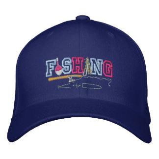 Fishing Kid Embroidered Baseball Cap