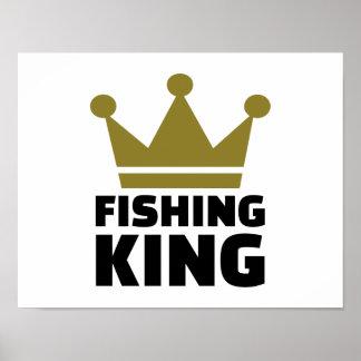 Fishing king crown print