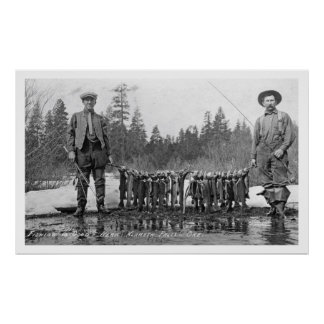 Fishing Klamath Falls, Oregon Vintage Poster