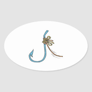 Fishing Knot Oval Stickers