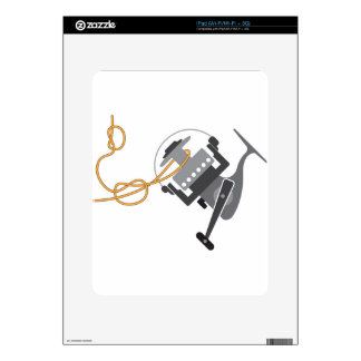 Fishing knot to connect line to the spool vector decals for iPad